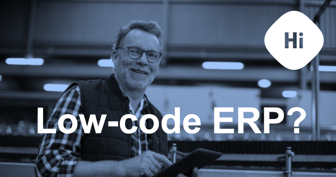 Low-code development ERP