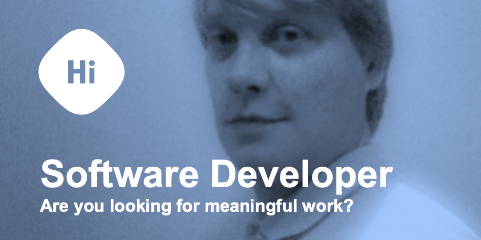 Arto Hännikäinen is looking for software developer